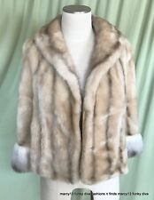Chic Vintage Glenoit Sears Silver Gray Faux Fur Stole Size Small