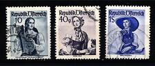 AUSTRIA - 1948-1950 - Costumi regionali