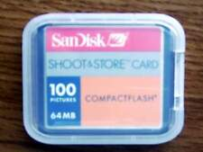 New Sandisk 64MB Compact Flash CF memory storage 64 mb Card FREE S/H