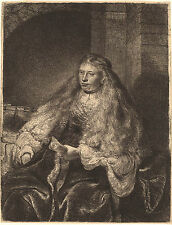 Rembrandt Etching Reproduction: The Great Jewish Bride: Fine Art Print