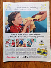 1944 Nucoa Oleomargarine Ad Healthy Hunger After Hard Play