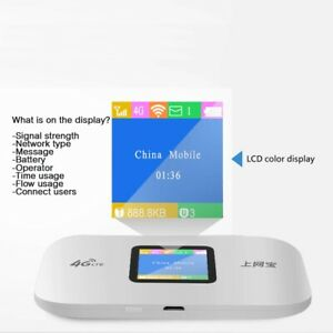 Portable 4G Wireless Pocket Router with Simcard Slot