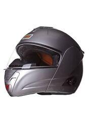 KENROD Casco para moto con bluetooth e intercomunicador. Color plata. Talla XL