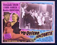 RUMBERA SEXY ROSITA QUINTANA YO QUIERO SER TONTA 1950 Vintage LOBBY CARD PHOTO