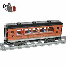 Custom City train Emerald Night passenger carriage car made using LEGO parts