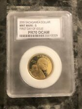 2005 S $1 Sacagawea Dollar PCC PR70 DCAM  FIRST DAY OF ISSUE