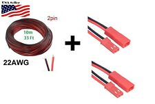 10M 2Pin Extension Red Black Wire Cable Cord for 3528 5050 5630 LED Strip 22AWG