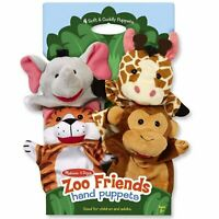 Melissa And Doug Zoo Friends Hand Puppets NEW Toys Plushies Fun Family Kids