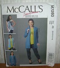 Womens/Misses Vest Jacket Tops Pants Sewing Pattern/McCall's M7260/SZ 6-14/UCN