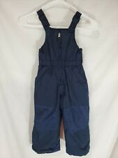 Toddlers Jumping Beans Black Snow Bibs Insullated Pants Size 4T