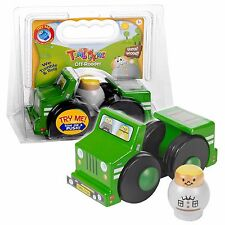 Tumblekins Off-Roader giocattolo in legno auto con la figura avventura bambino Kids regalo di Natale