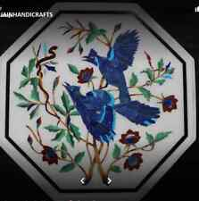 2' Marble Coffee side Table Top bird Inlay For Home Decor and Gift  011