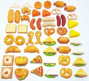 50-Piece Dollhouse Miniature Mixed Bakery Food Set * Doll Mini Tiny Pastry Bread