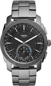Fossil Q FTW1166 Men's Neely Smoke Stainless Steel  Gunmetal Hybrid Smart Watch