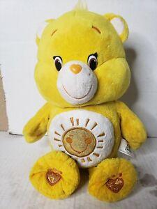 """Build A Bear FUNSHINE CARE BEAR PLUSH Stuffed Sunshine Yellow 17"""""""