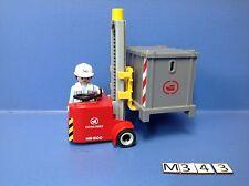 (M343.1) playmobil chariot manutentionnaire portuaire ref 4476 4472