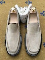 Gucci Mens Shoes Beige Suede Leather Loafers UK 8 US 9 EU 42 Made in Italy