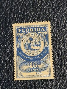 US  FLORIDA DOCUMENTARY STAMP TAX 10c ROY GREEN COMPTROLLER  USED - # 2674