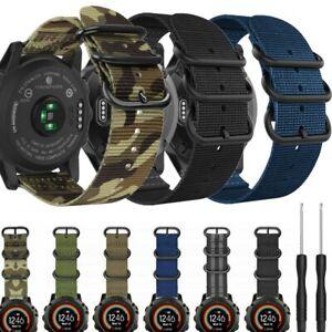Nylon Watch Band Replacement Strap For Garmin Fenix 3/3HR/5X/5X Plus 26mm 22mm