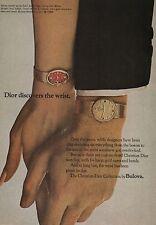 1968 Christian Dior Collection by Bulova 14k Watch Original Vintage Print Ad