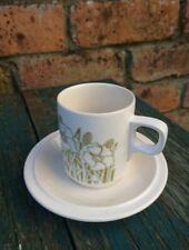 "Vintage Hornsea ""Fleur"" Demi Tasse Cofee Cup and Saucer Retro 70/80s"