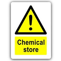 Aluminium Sign-Chemical Store-Metal-Door Notice Health Safety Science Cupboard