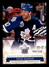DOUG GILMOUR 2017  MAPLE LEAFS CENTENNIAL NO 191 XX/100 20094