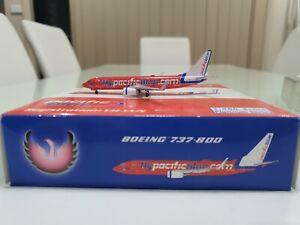 PHOENIX 1/400 Pacific Blue Boeing 737-800 VH-VUN Diecast FLYPACIFICBLUE.COM