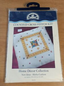DMC Shisha Cushion Front Beads Metallic Home Decor Collection Cross Stitch Kit