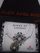 Alex and Ani WINGS OF CHANGE Expandable Bracelet Rafaelian Silver NWTBC