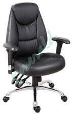 Portland Luxury Leather Faced Office Mananger Computer Operator Arm Chair