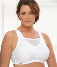 Glamorise Women's Full Figure No Bounce Plus Size Camisole White Size 34h