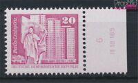 DDR 2485w DV mit Druckvermerk weißes Papier postfrisch 1980 Aufbau in (9233813