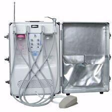 Mobile Dental Portable Unit  +Air Compressor Scaler Fiber HP Tubes 3 Way Syringe