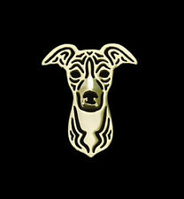 Italian Greyhound dog Brooch Lapel Pin-Fashion Jewellery Gold Plated, Stud Back