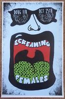 SCREAMING FEMALES 2016 Gig POSTER Portland Oregon Concert