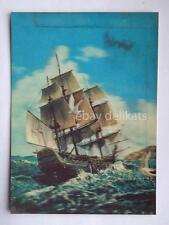 VELIERO LENTICULAR 3D vintage postcard vecchia cartolina