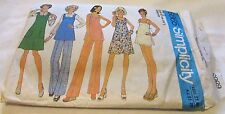 Vintage Original 70's Ladies Mixed Simplicity Sewing Pattern Size 12 Cut