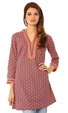 *New With Tag* BOOM SHANKAR Size 8 'Hasita' Patterned Cotton TUNIC, Long Top