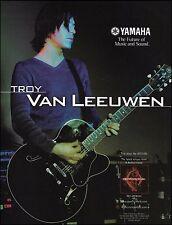 Troy Van Leeuwen 2001 Yamaha AES 1500 guitar ad 8 x 11 advertisement print