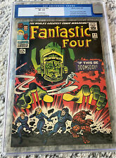 FANTASTIC FOUR #49 CGC 7.5 OW Silver Age Comic Book OLD LABEL 2ND SILVER SURFER