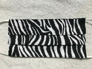 Face Mask, Handmade in USA, 100% Cotton Fabric - Zebra Print