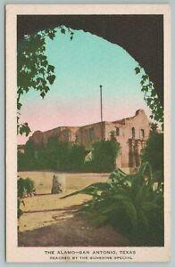 San Antonio Texas~The Alamo~1940s Linen Postcard