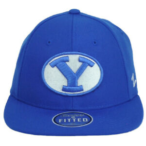 NCAA Zephyr Brigham Young Cougars BYU Blue Flat Bill Fitted Size 7 Hat Cap