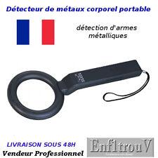 DETECTEUR DE METAUX METAL SECURITE CORPOREL A MAIN PORTABLE NOIR