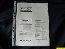 Sansui AU-X117 Owner's Manual  Operating Instructions Istruzioni