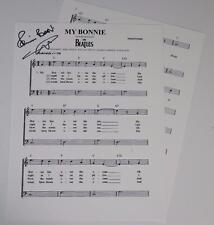 "Pete Best THE BEATLES Signed Autograph ""My Bonnie"" Sheet Music"