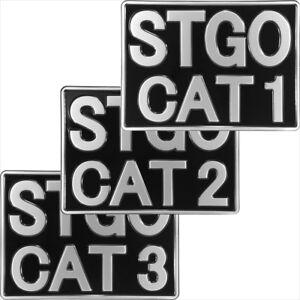 Abnormal Load STGO CAT 1 2 3 Truck Novelty Pressed metal Plate 11x8 black silver