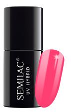 Semilac Hybrid Soak off Nail GEL Polish Manicure 042 Neon Raspberry 7ml