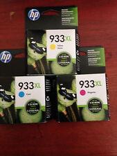 HP 933XL MAGENTA, YELLOW, & CYAN GENUINE HIGH YIELD VALUE PACK INK CARTRIDGES